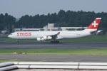 神宮寺ももさんが、成田国際空港で撮影したスイスインターナショナルエアラインズ A340-313Xの航空フォト(写真)