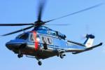 hidetsuguさんが、札幌飛行場で撮影した北海道警察 AW139の航空フォト(写真)