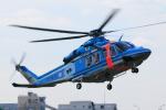 だびでさんが、東京ヘリポートで撮影した警視庁 AW139の航空フォト(写真)