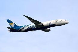 まいけるさんが、スワンナプーム国際空港で撮影したオマーン航空 787-8 Dreamlinerの航空フォト(飛行機 写真・画像)