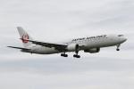 ゆういちさんが、鹿児島空港で撮影した日本航空 767-346/ERの航空フォト(写真)