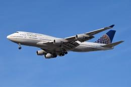 Ernie Heさんが、ロサンゼルス国際空港で撮影したユナイテッド航空 747-422の航空フォト(飛行機 写真・画像)