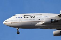 Ernie Heさんが、ロサンゼルス国際空港で撮影したユナイテッド航空 747-422の航空フォト(写真)