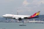 sky-spotterさんが、香港国際空港で撮影したアシアナ航空 747-48EF/SCDの航空フォト(写真)