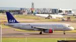 誘喜さんが、ロンドン・ヒースロー空港で撮影したスカンジナビア航空 A320-232の航空フォト(写真)