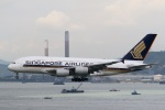 sky-spotterさんが、香港国際空港で撮影したシンガポール航空 A380-841の航空フォト(写真)