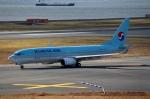 ハピネスさんが、関西国際空港で撮影した大韓航空 737-8Q8の航空フォト(写真)