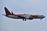 こじゆきさんが、済州国際空港で撮影したティーウェイ航空 737-8BKの航空フォト(写真)
