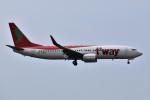こじゆきさんが、済州国際空港で撮影したティーウェイ航空 737-8Q8の航空フォト(写真)