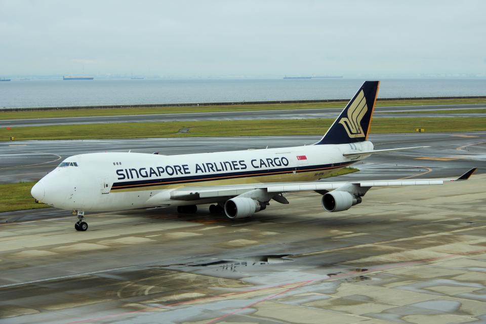 yabyanさんのシンガポール航空カーゴ Boeing 747-400 (9V-SFM) 航空フォト