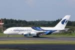 B747‐400さんが、成田国際空港で撮影したマレーシア航空 A380-841の航空フォト(写真)