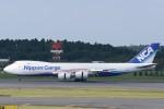 B747‐400さんが、成田国際空港で撮影した日本貨物航空 747-8KZF/SCDの航空フォト(写真)