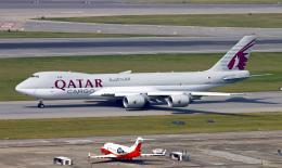 Asamaさんが、香港国際空港で撮影したカタール航空カーゴ 747-8DZFの航空フォト(写真)