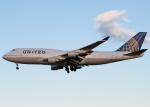岡本さんが、成田国際空港で撮影したユナイテッド航空 747-422の航空フォト(写真)
