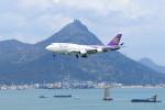 オポッサムさんが、香港国際空港で撮影したタイ国際航空 747-4D7の航空フォト(写真)