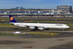 たまさんが、羽田空港で撮影したルフトハンザドイツ航空 A340-642Xの航空フォト(写真)