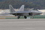 やまちゃんさんが、ソウル空軍基地で撮影したアメリカ空軍 F-22A Raptorの航空フォト(写真)