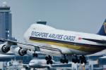 パンダさんが、成田国際空港で撮影したシンガポール航空カーゴ 747-412F/SCDの航空フォト(飛行機 写真・画像)