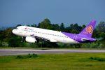 まいけるさんが、コーンケン空港で撮影したタイ・スマイル A320-232の航空フォト(写真)