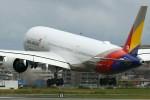 masa707さんが、福岡空港で撮影したアシアナ航空 A350-941XWBの航空フォト(写真)