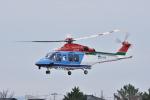 蒼い鳩さんが、新潟空港で撮影した新潟県消防防災航空隊 AW139の航空フォト(写真)