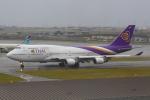 おみずさんが、関西国際空港で撮影したタイ国際航空 747-4D7の航空フォト(写真)