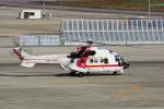 yabyanさんが、名古屋飛行場で撮影した朝日航洋 AS332L1 Super Pumaの航空フォト(飛行機 写真・画像)