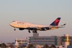 かずまっくすさんが、成田国際空港で撮影したデルタ航空 747-451の航空フォト(写真)