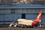 おかめさんが、羽田空港で撮影したカンタス航空 747-438の航空フォト(写真)