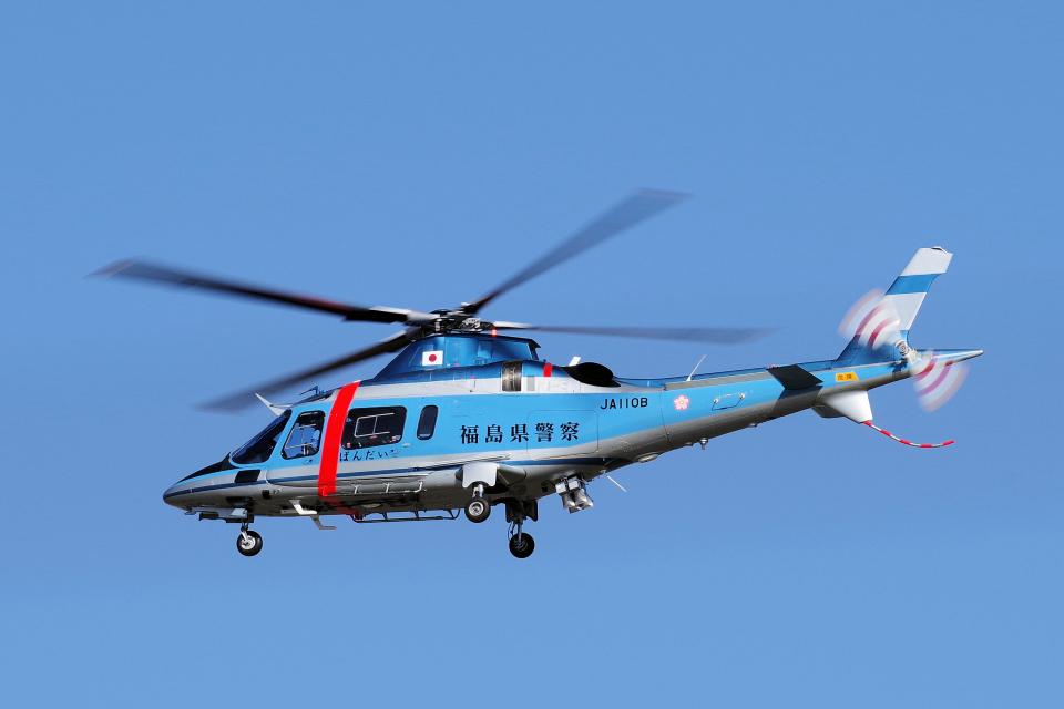 yabyanさんの福島県警察 Agusta A109 (JA110B) 航空フォト