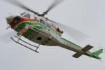 w_h1011さんが、群馬ヘリポートで撮影した群馬県防災航空隊 412EPの航空フォト(写真)