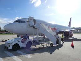 ヒロリンさんが、ランカウイ国際空港で撮影したマリンド・エア 737-8GPの航空フォト(飛行機 写真・画像)