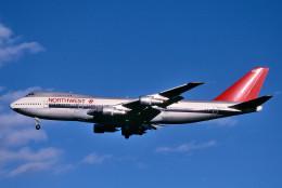 トロピカルさんが、成田国際空港で撮影したノースウエスト航空 747-251Bの航空フォト(写真)