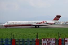 matatabiさんが、台北松山空港で撮影した遠東航空 MD-82 (DC-9-82)の航空フォト(飛行機 写真・画像)