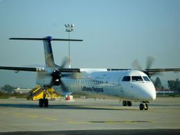 panchiさんが、グラーツ空港で撮影したルフトハンザ リージョナル DHC-8-402Q Dash 8の航空フォト(飛行機 写真・画像)