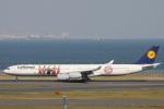 小牛田薫さんが、羽田空港で撮影したルフトハンザドイツ航空 A340-642Xの航空フォト(写真)