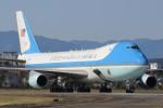マリオ先輩さんが、横田基地で撮影したアメリカ空軍 VC-25A (747-2G4B)の航空フォト(写真)