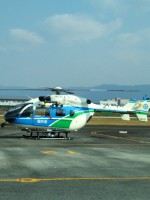 ダルビッシュえつしさんが、八尾空港で撮影した福井県防災航空隊 BK117C-2の航空フォト(写真)