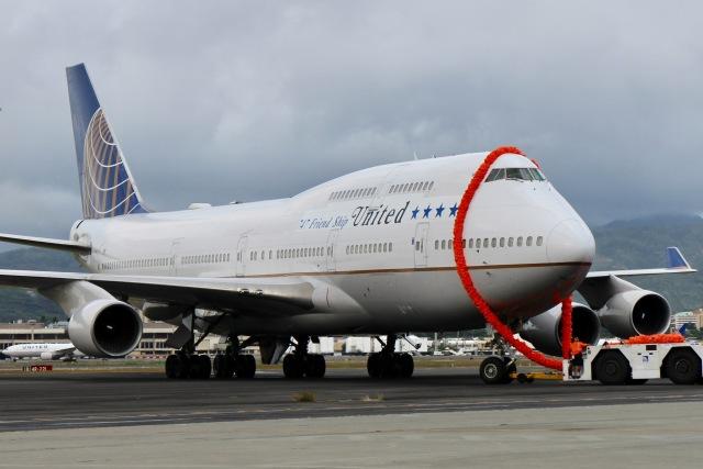 JRF spotterさんが、ダニエル・K・イノウエ国際空港で撮影したユナイテッド航空 747-422の航空フォト(飛行機 写真・画像)