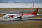 ハピネスさんが、関西国際空港で撮影したティーウェイ航空 737-86Nの航空フォト(写真)