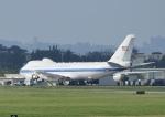 じーく。さんが、嘉手納飛行場で撮影したアメリカ空軍 E-4B (747-200B)の航空フォト(写真)