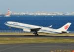 じーく。さんが、羽田空港で撮影した中国国際航空 A330-343Xの航空フォト(飛行機 写真・画像)