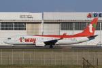 多楽さんが、成田国際空港で撮影したティーウェイ航空 737-8KNの航空フォト(写真)