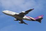 せぷてんばーさんが、成田国際空港で撮影したタイ国際航空 747-4D7の航空フォト(写真)