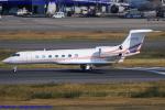 Chofu Spotter Ariaさんが、羽田空港で撮影したTAI Leasing Inc C-37B Gulfstream G550 (G-V-SP)の航空フォト(飛行機 写真・画像)