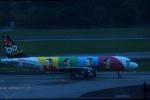 KAZKAZさんが、シンガポール・チャンギ国際空港で撮影したエアアジア A320-214の航空フォト(写真)