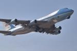 小金井原住民さんが、横田基地で撮影したアメリカ空軍 VC-25A (747-2G4B)の航空フォト(写真)