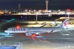 よしポンさんが、羽田空港で撮影したカタール航空 A350-941XWBの航空フォト(写真)