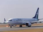 ムネキンさんが、広島空港で撮影したシルクエア 737-8-MAXの航空フォト(写真)