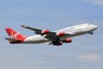 ANDさんが、ロンドン・ガトウィック空港で撮影したヴァージン・アトランティック航空 747-443の航空フォト(写真)